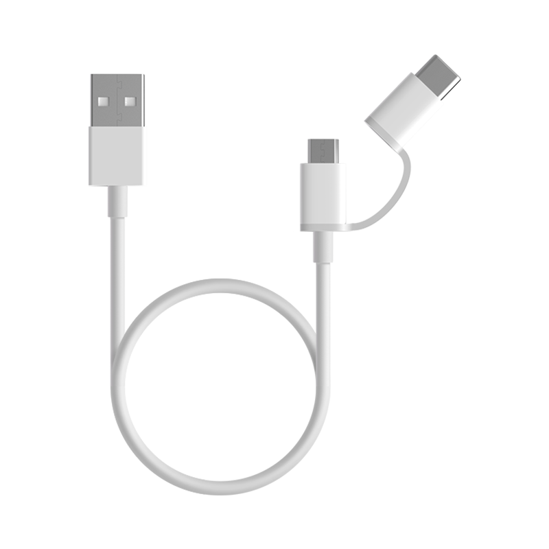 Mi 2-in-1 USB Cable Micro USB to Type C (30cm) Белый