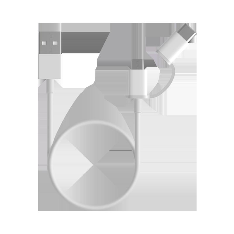 Mi 2-in-1 USB Cable Micro USB to Type C (100cm) Белый